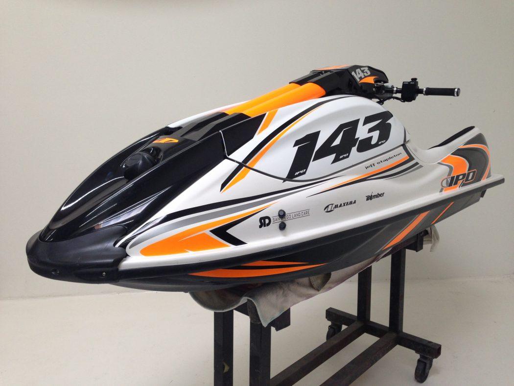 GK-JS-SXR installed on Jeff Stapleton's Kawasaki SXR