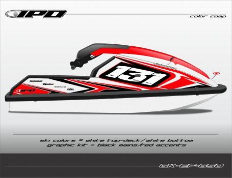 GK-EF-650SX (Black-Red on White Ski)