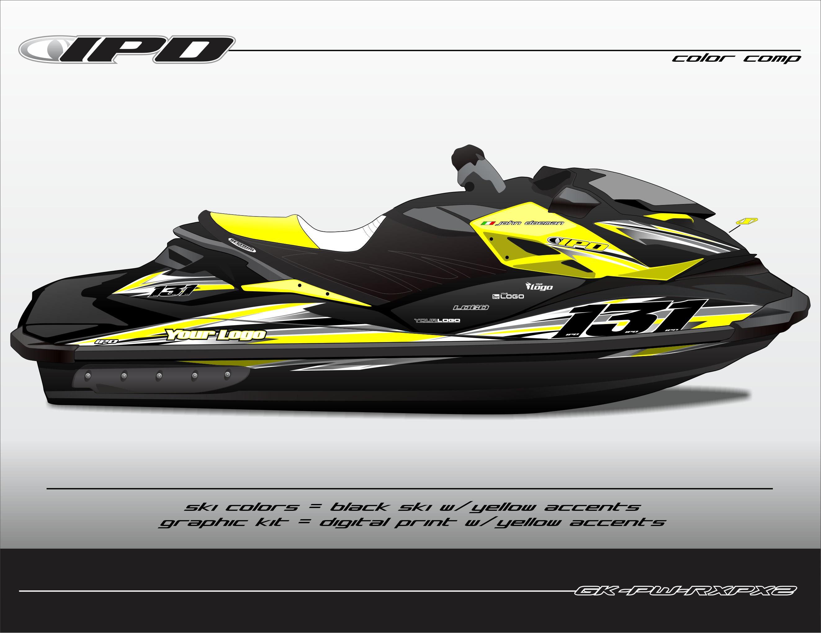 GK-PW-RXPX2 (Yellow Accents on Black Ski)