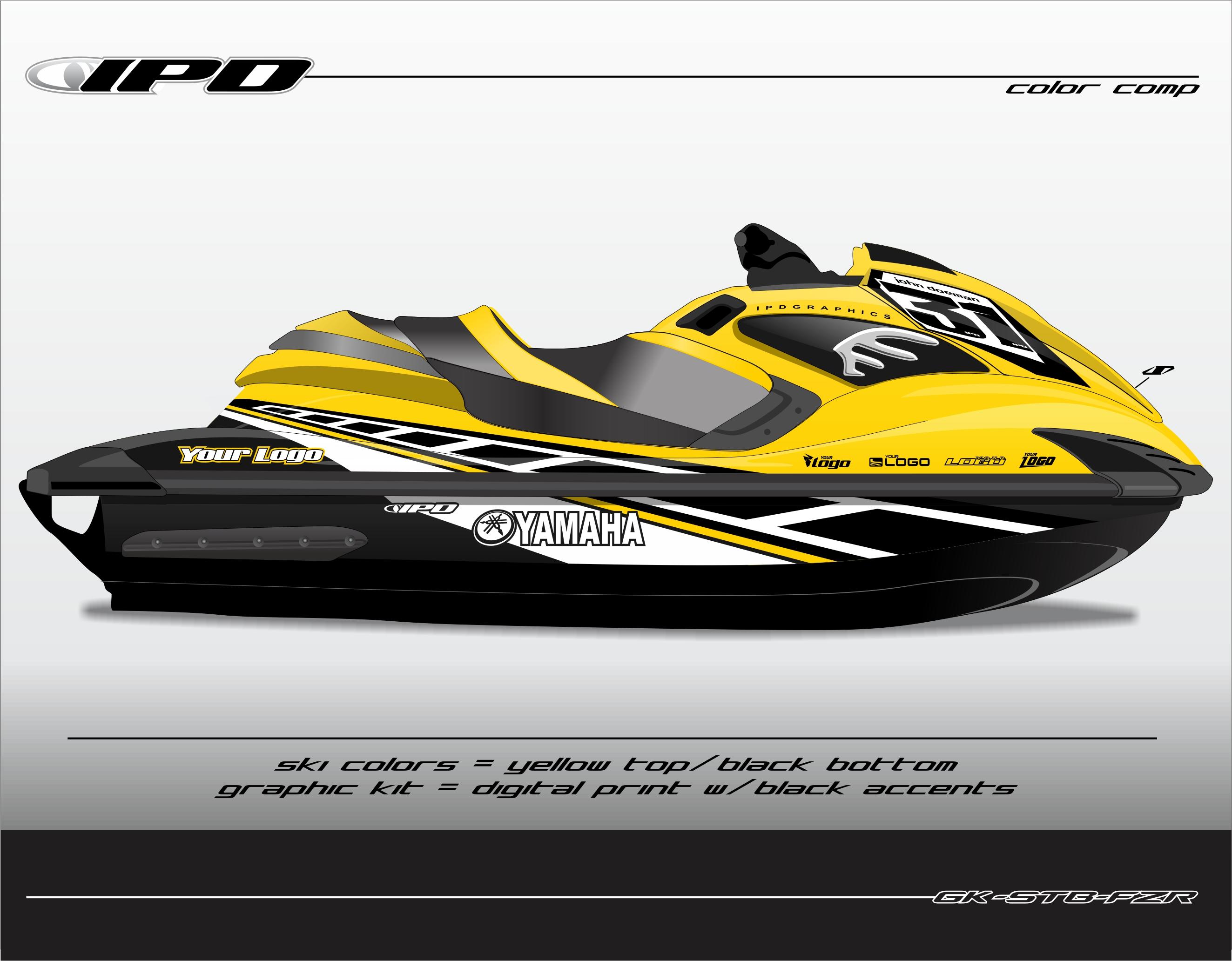 yamaha fzr fzs graphics kits ipd jet ski graphics. Black Bedroom Furniture Sets. Home Design Ideas