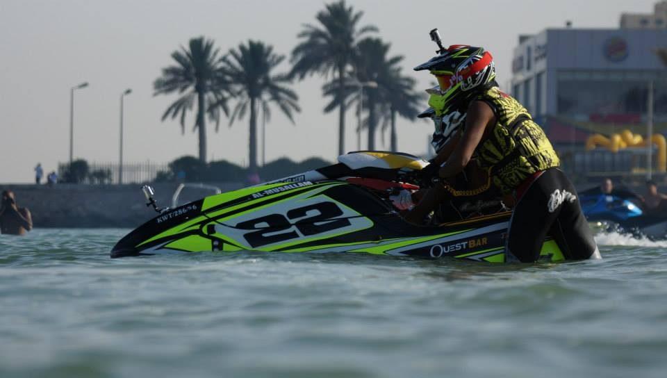 GK-EF-SXR installed on Fahad Al Musallam's Kawasaki SXR