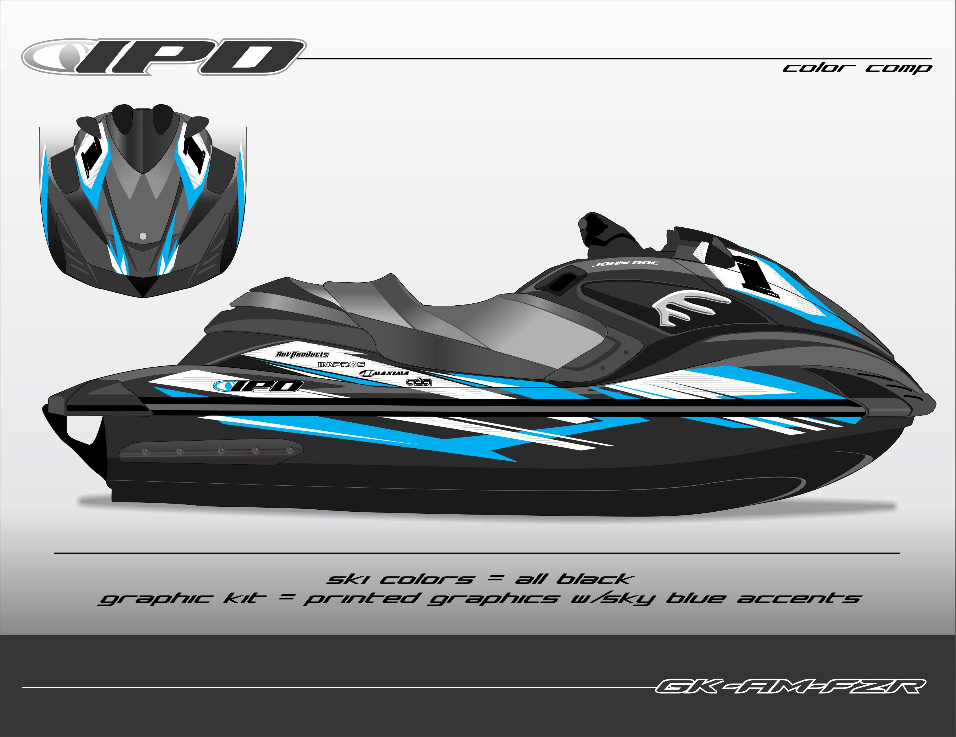 Yamaha fzs fzr graphics kit am design ipd jet ski for Yamaha jet skis