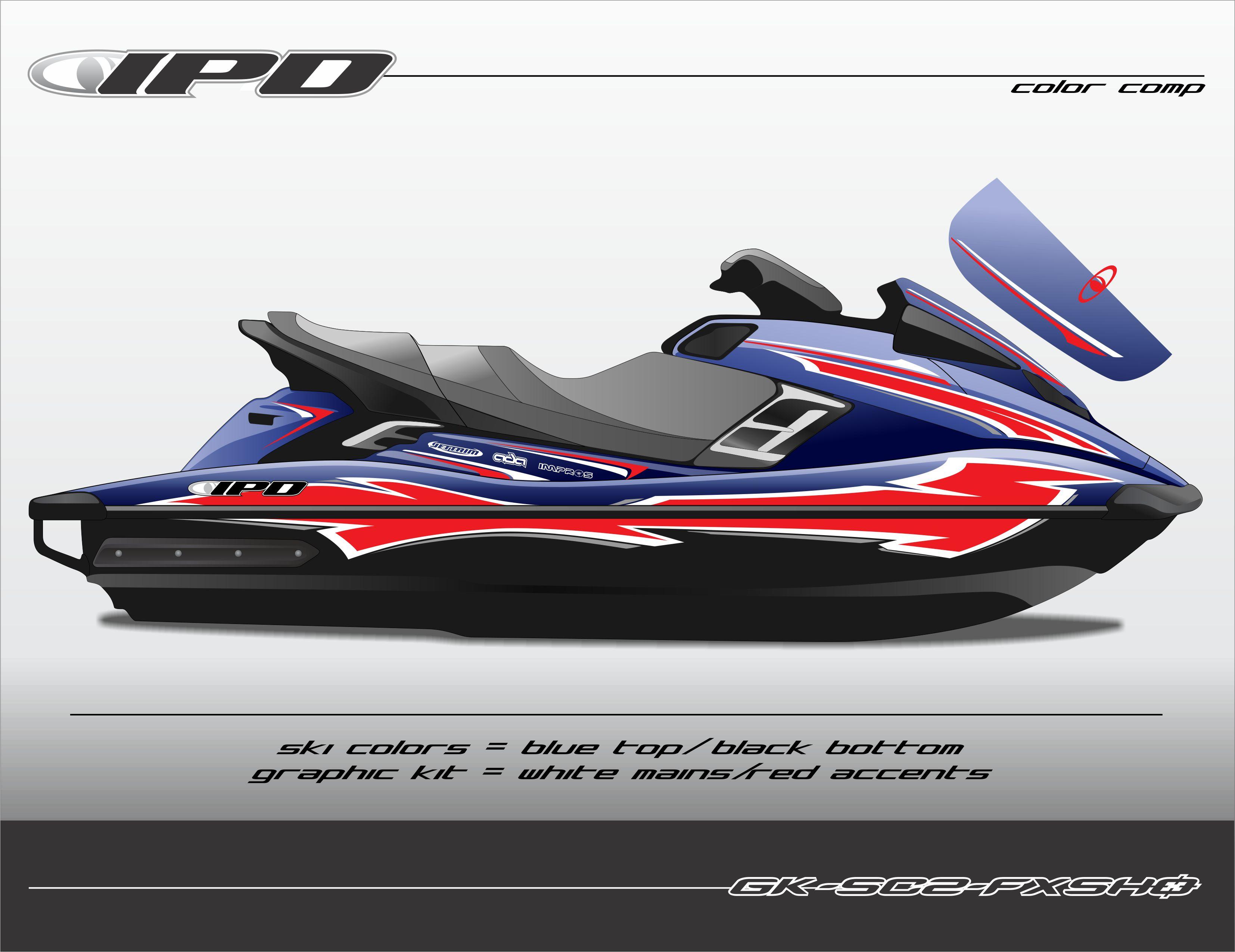 Yamaha gen 2 fxho fxsho fxsvho graphics kit sc2 design for Jet ski prices yamaha