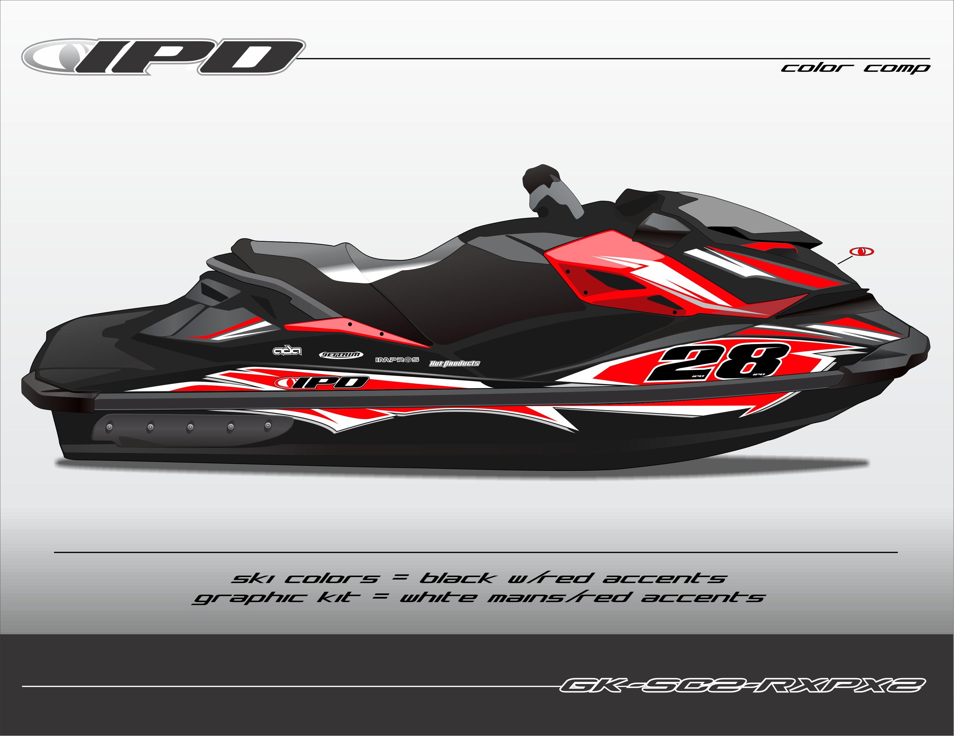 Yamaha Jet Ski For Sale >> Sea-Doo RXP-X 260 & 300 Graphics Kit (SC2 Design) – IPD Jet Ski Graphics