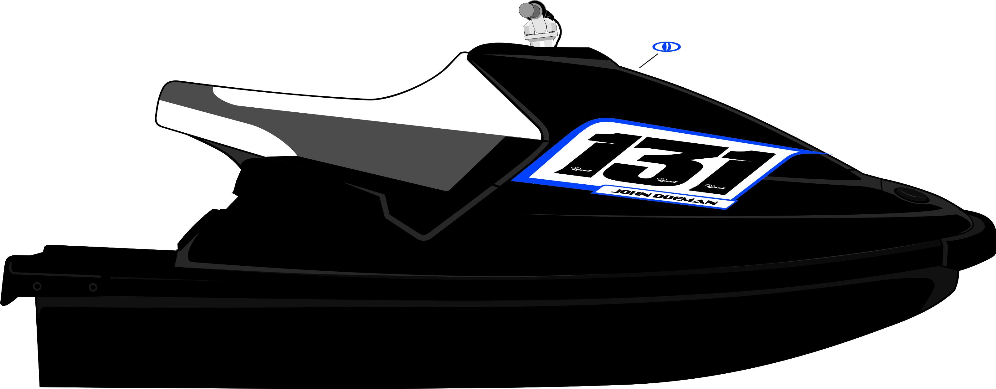 Yamaha waveblaster number plate kit x4 design ipd jet for Yamaha sports plaza promo code