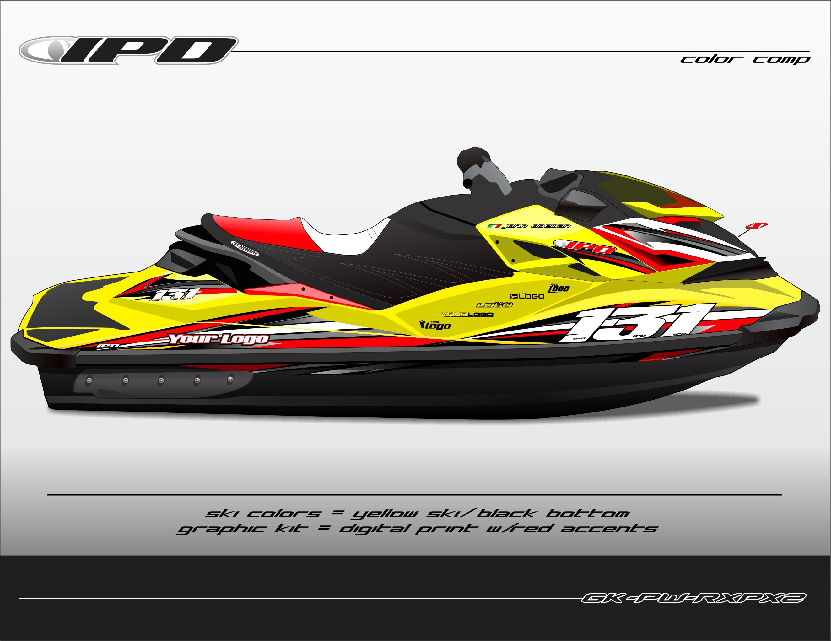 Sea Doo Rxp X 260 Amp 300 Graphics Kit Pw Design Ipd Jet