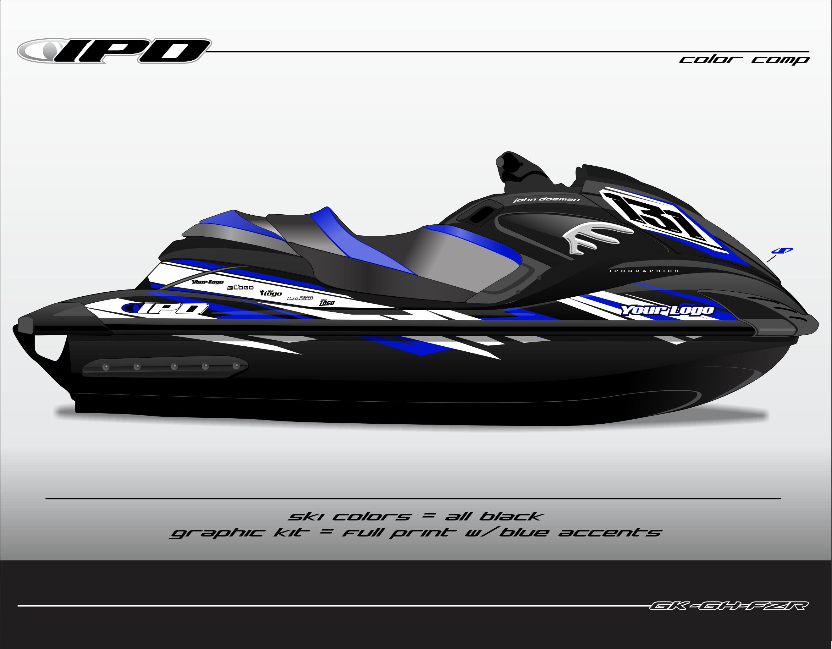 yamaha fzs fzr graphics kit gh design ipd jet ski graphics. Black Bedroom Furniture Sets. Home Design Ideas