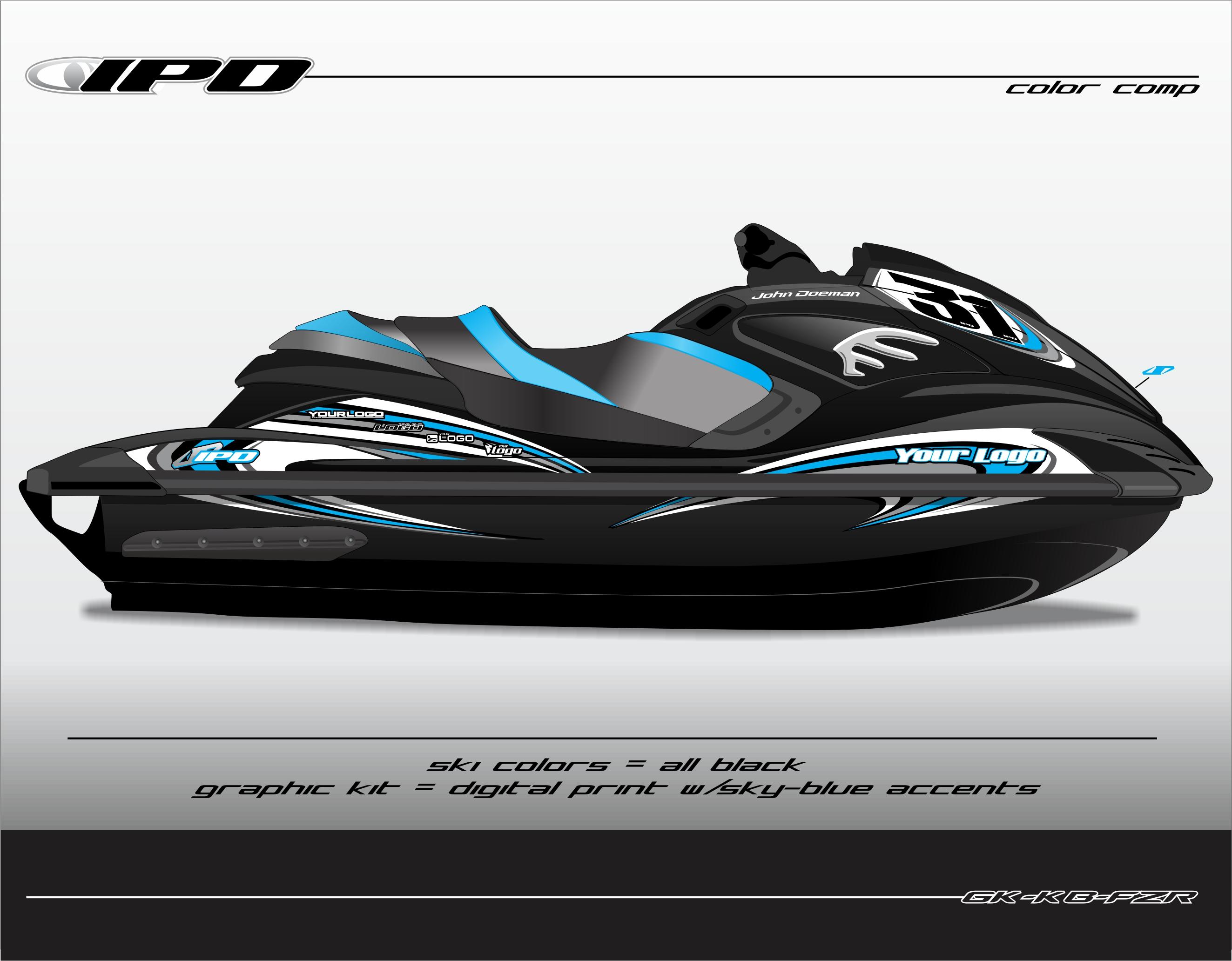 Yamaha fzs fzr graphics kit kb design ipd jet ski for Yamaha jet skis