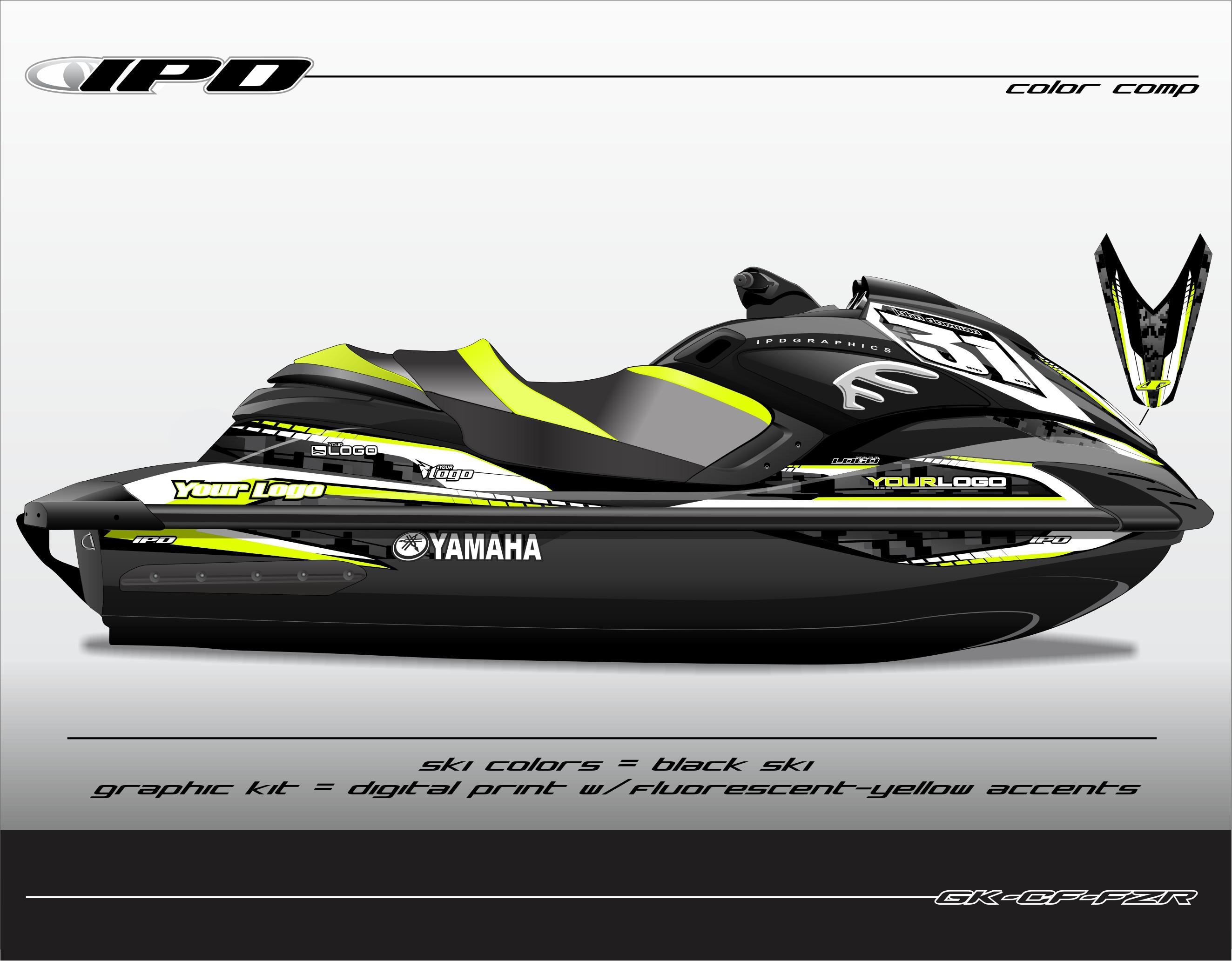 yamaha fzs fzr graphics kit cf design ipd jet ski. Black Bedroom Furniture Sets. Home Design Ideas