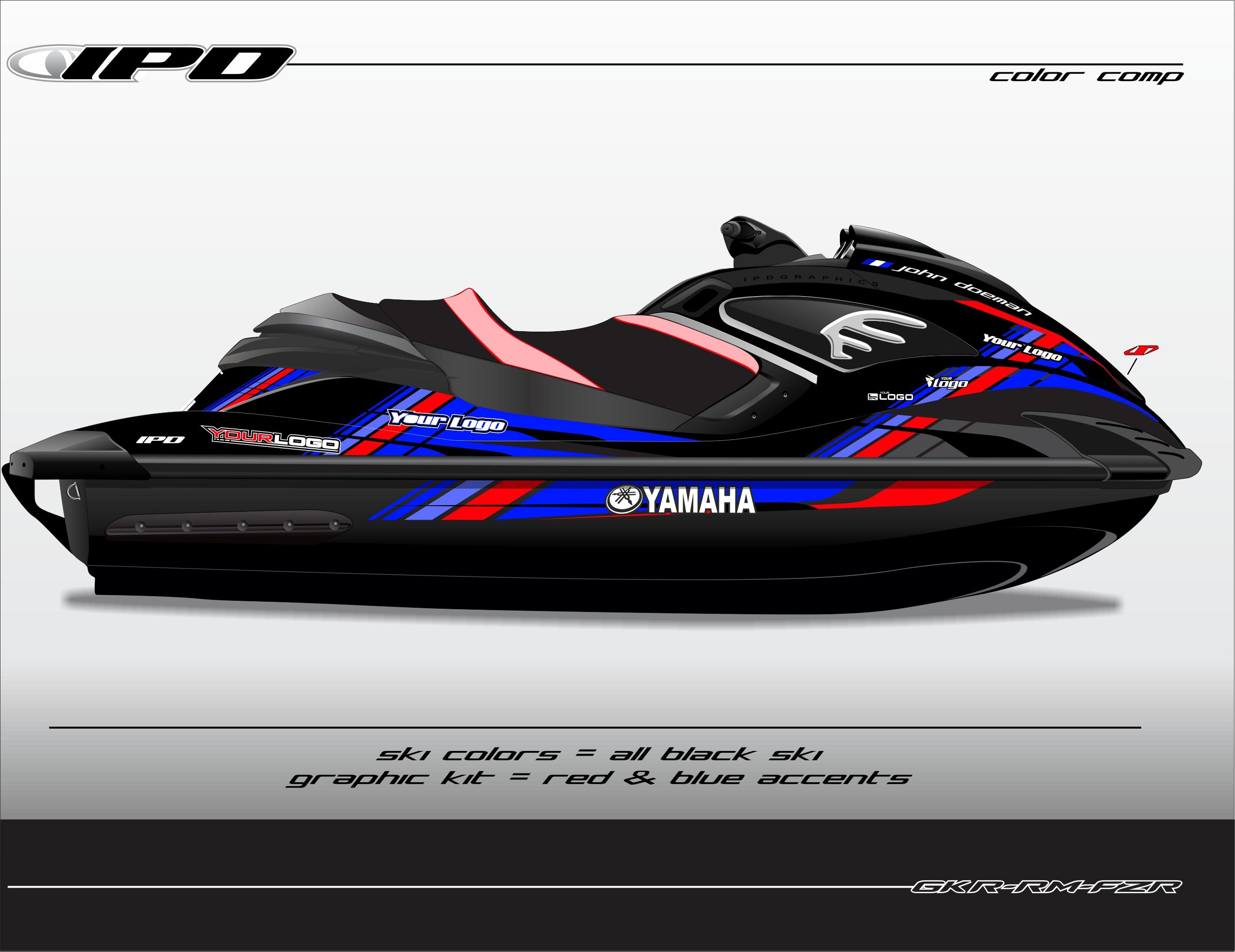 yamaha fzs fzr rec graphics kit rm design ipd jet ski graphics. Black Bedroom Furniture Sets. Home Design Ideas