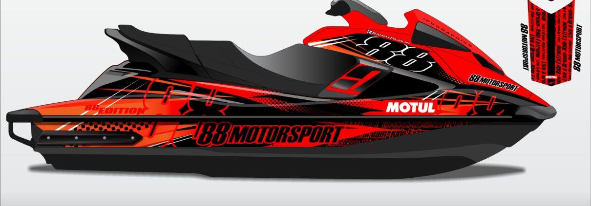 Custom Designed Jet Ski Graphics