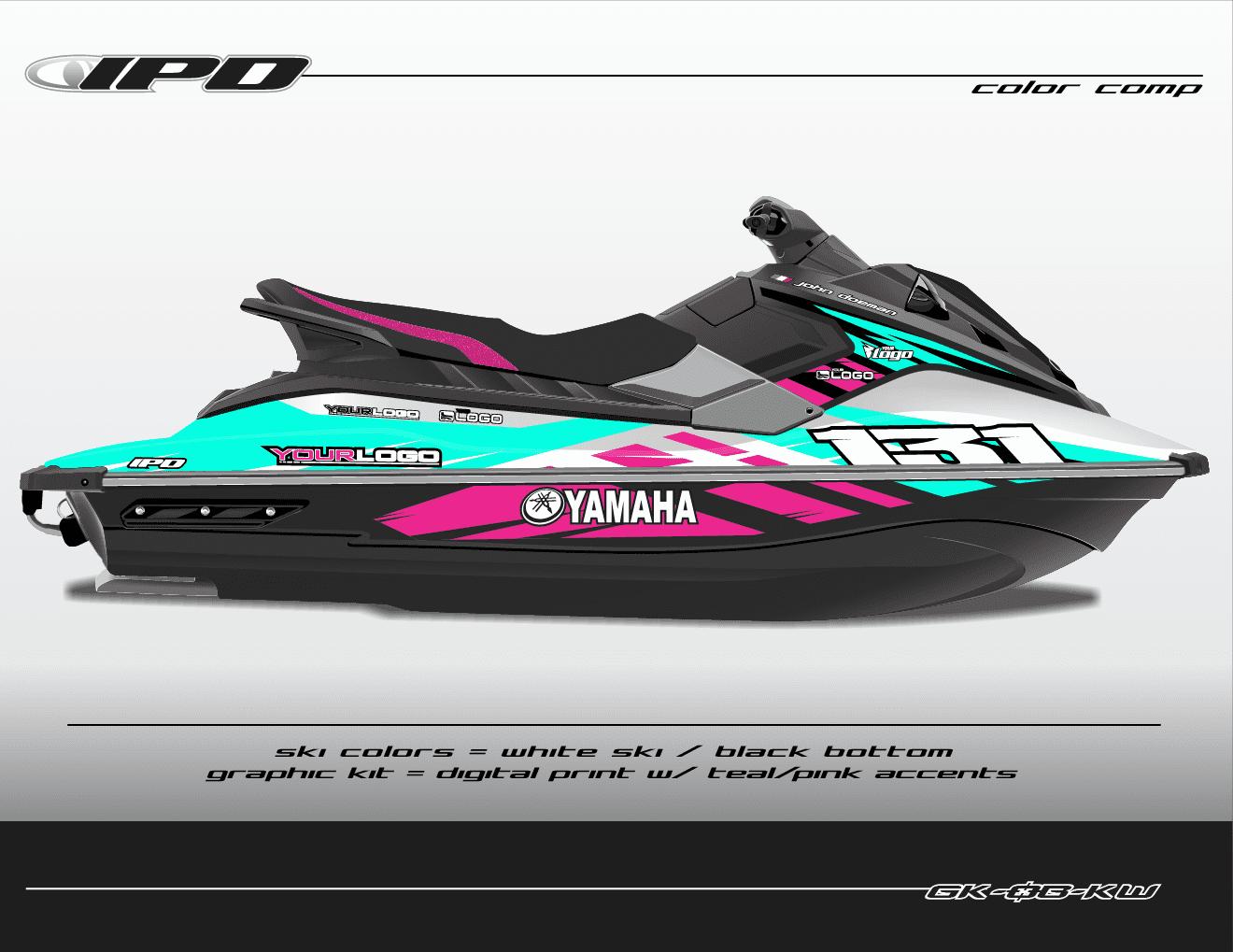 yamaha ex graphics kit  ob design   u2013 ipd jet ski graphics